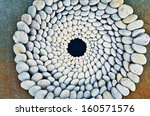 sequence of stones laid out in... | Shutterstock . vector #160571576
