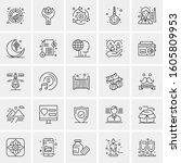 set of 25 universal business... | Shutterstock .eps vector #1605809953