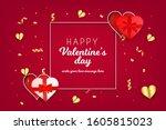 valentine's day background... | Shutterstock .eps vector #1605815023