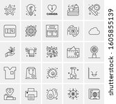 set of 25 universal business... | Shutterstock .eps vector #1605855139