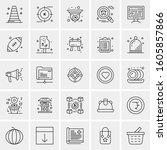 set of 25 universal business...   Shutterstock .eps vector #1605857866