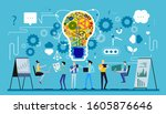 business  man and  lady social...   Shutterstock .eps vector #1605876646