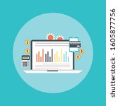 concept of accounting  analysis ... | Shutterstock .eps vector #1605877756