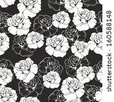 seamless dark floral pattern... | Shutterstock . vector #160588148