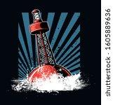Red Buoy  Danger Marker...