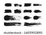 various clip art of paint brush ... | Shutterstock . vector #1605902890