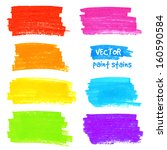bright colorful rainbow colors... | Shutterstock .eps vector #160590584