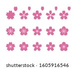 various patterns of cherry... | Shutterstock .eps vector #1605916546