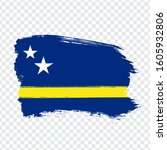 flag of curacao from brush...