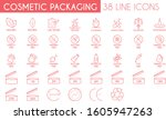 cosmetic packaging line icon... | Shutterstock .eps vector #1605947263
