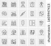 set of 25 universal business...   Shutterstock .eps vector #1605947413