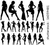 set of fashion women vector | Shutterstock .eps vector #16059481