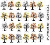 seamless pattern with trees.  | Shutterstock . vector #160595168