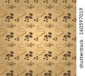 coffee time seamless pattern... | Shutterstock .eps vector #160597019
