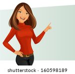 smiling girl | Shutterstock .eps vector #160598189