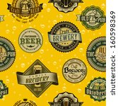 beer label logo typography... | Shutterstock .eps vector #160598369