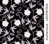 floral seamless pattern....   Shutterstock .eps vector #1605987826