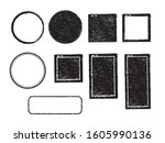 rubber stamp frame set  square  ...   Shutterstock .eps vector #1605990136