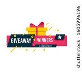 giveaway winners template...   Shutterstock .eps vector #1605996196