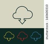 flat design cloud downloading...