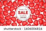valentines day sale background... | Shutterstock . vector #1606006816