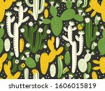 vector seamless pattern with...   Shutterstock .eps vector #1606015819