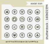modern flat design social...