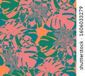philippine flowers. seamless... | Shutterstock .eps vector #1606033279
