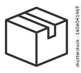 box outline vector icon....