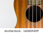 brown ukulele part  with string ... | Shutterstock . vector #160604309