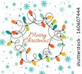 christmas lights | Shutterstock .eps vector #160607444