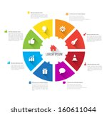 vector circle business concepts ... | Shutterstock .eps vector #160611044