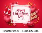 happy valentines day vector... | Shutterstock .eps vector #1606122886