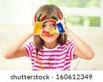 portrait of a cute cheerful... | Shutterstock . vector #160612349