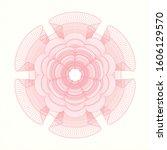 pink rosette or money style... | Shutterstock .eps vector #1606129570