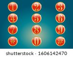 numeric keypad icons in round... | Shutterstock .eps vector #1606142470