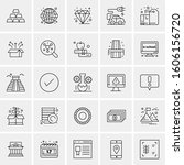 set of 25 universal business... | Shutterstock .eps vector #1606156720