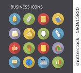 flat icons for business and...