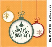 retro style christmas greeting... | Shutterstock .eps vector #160618733