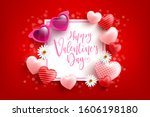 valentine's day sale poster or... | Shutterstock .eps vector #1606198180