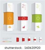 paper prism vector infographic... | Shutterstock .eps vector #160620920