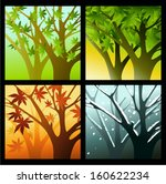 four seasons | Shutterstock .eps vector #160622234