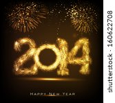 happy new year 2014 celebration ... | Shutterstock .eps vector #160622708
