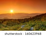 Stock photo summer landscape in the mountains sunrise 160623968