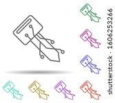 digital key multi color icon....