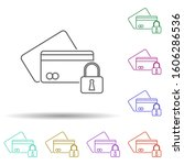 secure payment multi color icon....