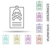 virus report multi color icon....