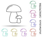 mushrooms multi color icon....