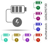 battery charging in multi color ...