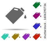 oil in multi color style icon....